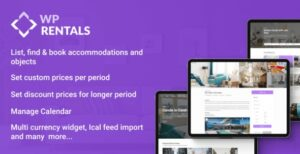 WP Rentals v3.3.1 Nulled – Booking Accommodation WordPress Theme