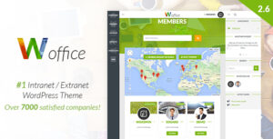 Woffice v3.1.3 Nulled – Intranet/Extranet WordPress Theme