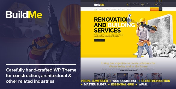 BuildMe v4.8 Nulled – Construction & Architectural WP Theme