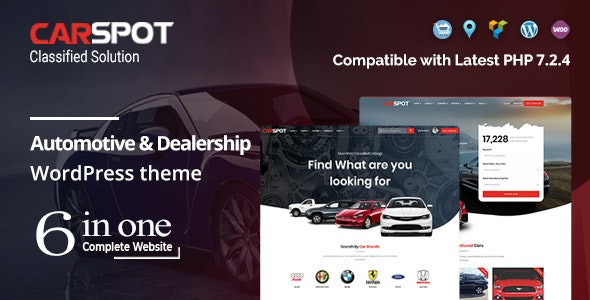 CarSpot v2.3.1 Nulled – Automotive Car Dealer WordPress Classified Theme