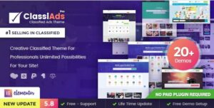 Classiads v5.9.4 Nulled – Classified Ads WordPress Theme