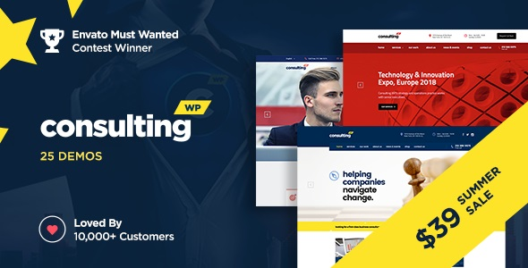 Consulting v6.1.4 Nulled – Business, Finance WordPress Theme