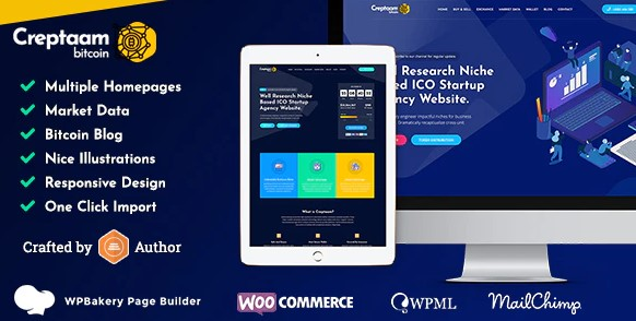 Creptaam v1.4 Nulled – Bitcoin, ICO Landing and Cryptocurrency WordPress Theme