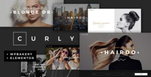 Curly v2.4 Nulled – A Stylish Theme for Hairdressers and Hair Salons
