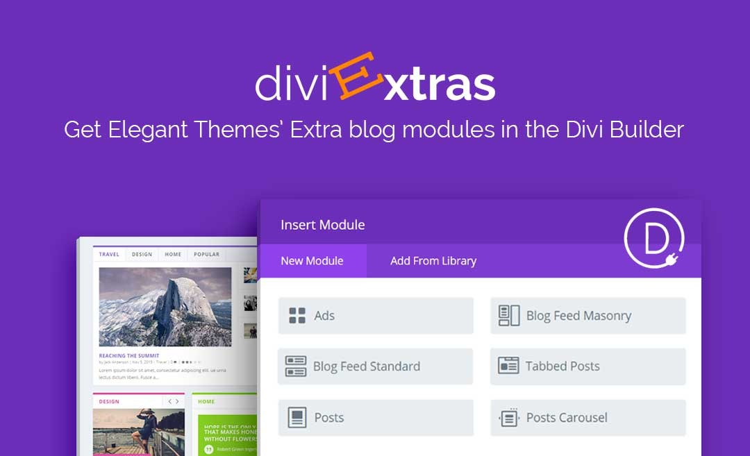 Divi Extras v1.1.7 Nulled – Extra Theme Blog Modules Added To Divi Builder