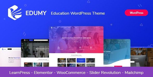 Edumy v1.2.1 Nulled – LMS Online Education Course WordPress Theme