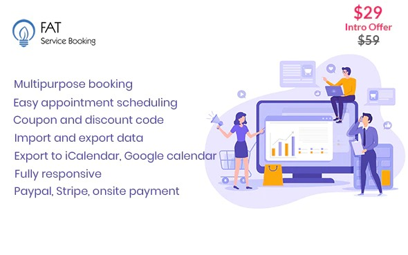 Fat Services Booking v4.1 Nulled – Automated Booking and Online Scheduling