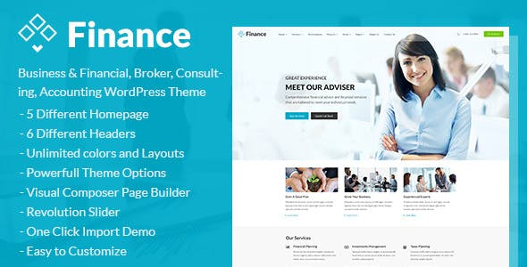 Finance v1.3.9 Nulled – Consulting, Accounting WordPress Theme
