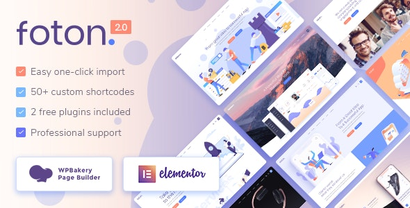 Foton v2.2 Nulled – Software and App Landing Page Theme