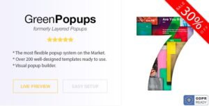 Green Popups v7.27 Nulled (formerly Layered Popups) – Popup Plugin for WordPress
