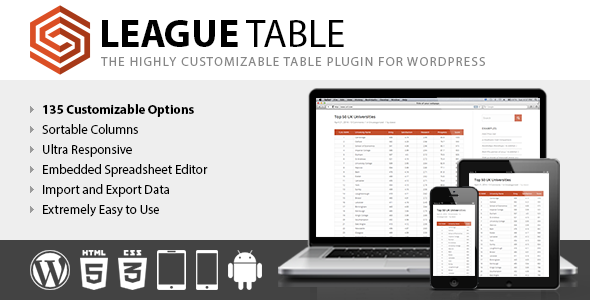 League Table v2.13 Nulled – WordPress Plugin