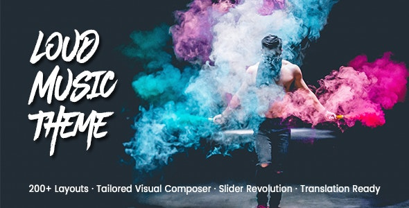 Loud v2.1.1 Nulled – A Modern WordPress Theme for the Music Industry