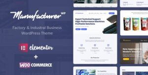 Manufacturer v1.3.4 Nulled – Factory and Industrial WordPress Theme