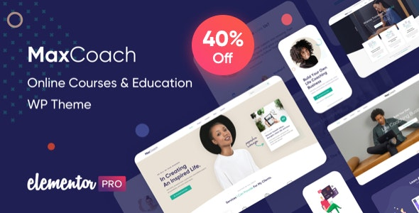 MaxCoach v2.4.5 Nulled – Online Courses & Education WP Theme