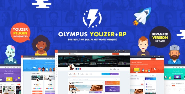 Olympus v3.55 Nulled – Powerful BuddyPress Theme for Social Networking