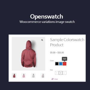 Openswatch v6.1 Nulled – Woocommerce variations image swatch