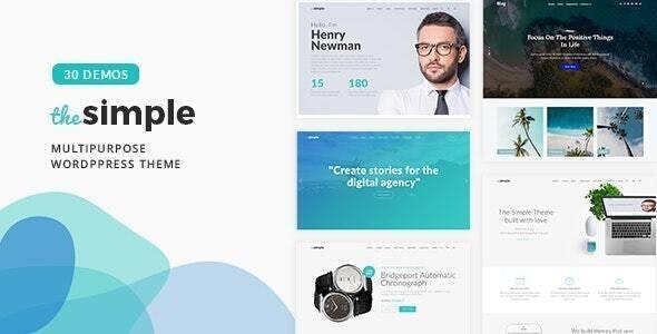 The Simple v2.7.1 Nulled– Business WordPress Theme