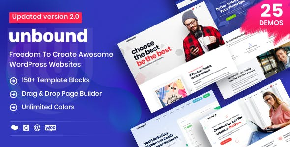 Unbound v2.1.4 Nulled – Business Agency Multipurpose Theme