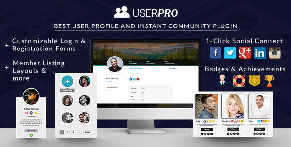 UserPro v4.9.39 Nulled – User Profiles with Social Login