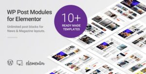 WP Post Modules for NewsPaper and Magazine Layouts (Elementor Addon) v2.9.1 Nulled