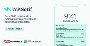 WPNotif v2.4.0.10 Nulled – WordPress SMS & WhatsApp Message Notifications