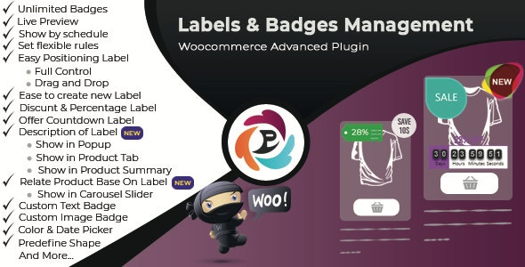 WooCommerce Advance Product Label and Badge Pro v1.8.6 Nulled