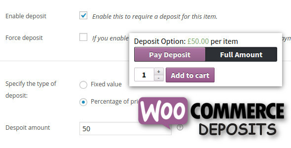WooCommerce Deposits v3.2.9 Nulled (Partial Payments Plugin)