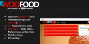 WooFood v2.6.5 Nulled – Food Ordering Plugin