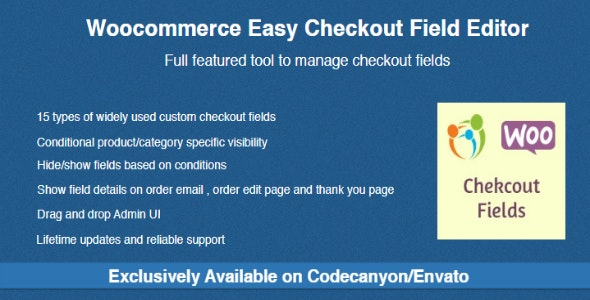 Woocommerce Easy Checkout Field Editor v2.3.1 Nulled