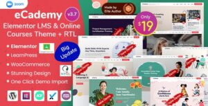 eCademy v4.9.1 Nulled – Elementor LMS & Online Courses Theme