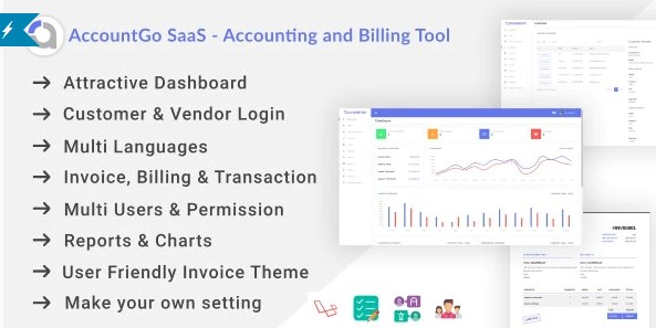 AccountGo SaaS v3.4.1 Nulled (Accounting and Billing Tool)