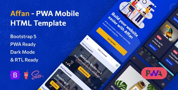 Affan v1.4 Nulled (PWA Mobile HTML Template)