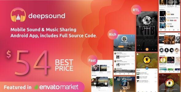 DeepSound Android v2.1 Nulled (Mobile Sound & Music Sharing Platform Mobile Android Application)