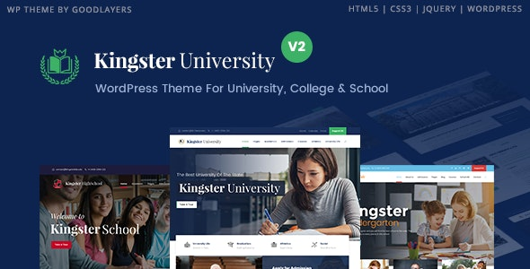 Kingster v.3.1.2 Nulled (Education WordPress For University, College and School)
