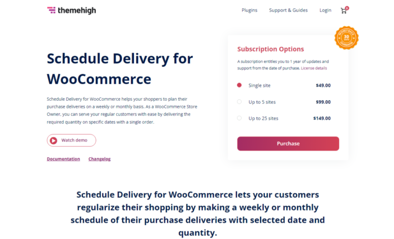 Schedule Delivery for Woocommerce v1.2.2 Nulled