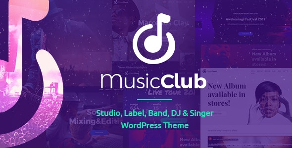 Music Club Theme v1.2.1 Nulled