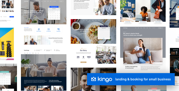 Kingo v2.4.2 Nulled (Booking WordPress for Small Business)