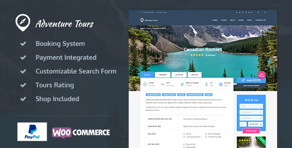 Adventure Tours Theme v4.2.1 Nulled