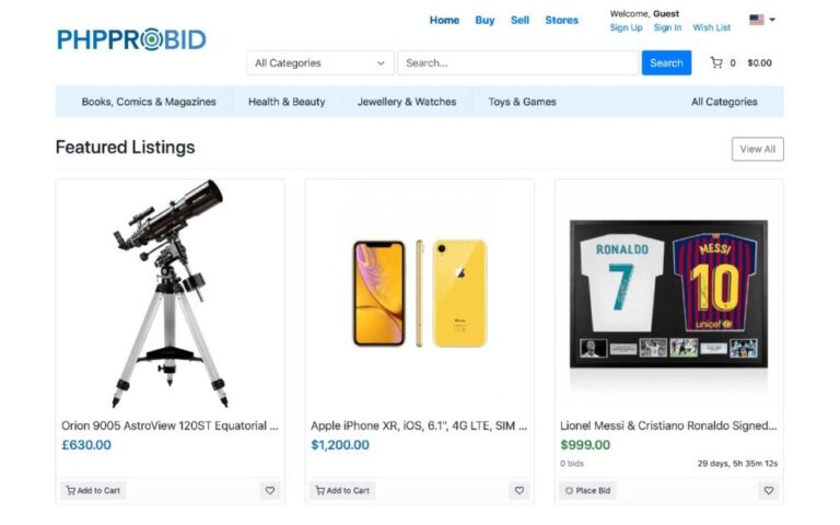 PHPProBid v8.4 Nulled (Online Auction Software)