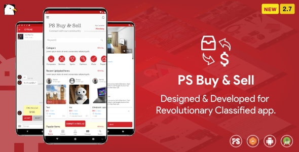 PS BuySell v3.3 Nulled (Olx Mercari Offerup Carousell Buy Sell Clone Classified App)