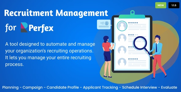 Recruitment Management for Perfex CRM v1.1.7 Nulled