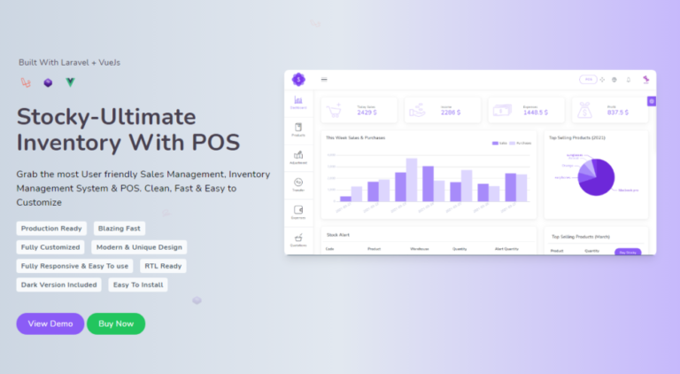Stocky v3.7.1 Nulled (Ultimate Inventory Management System with Pos)
