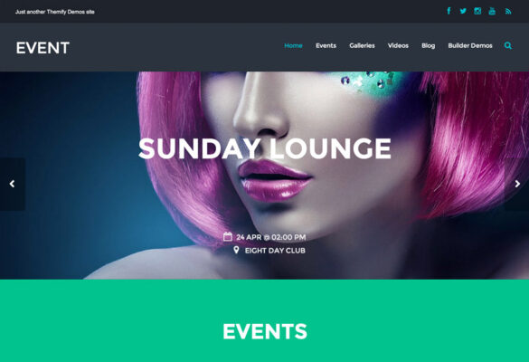 Themify Event WordPress Theme v5.3.8 Nulled