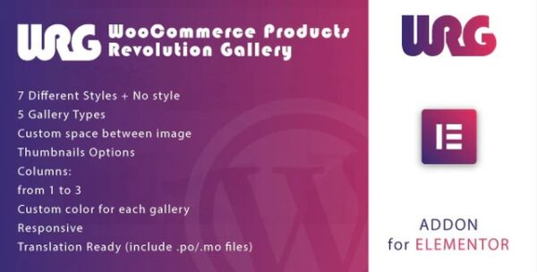 Woocommerce Products Revolution Gallery v1.1 Nulled (for Elementor WordPress Plugin)