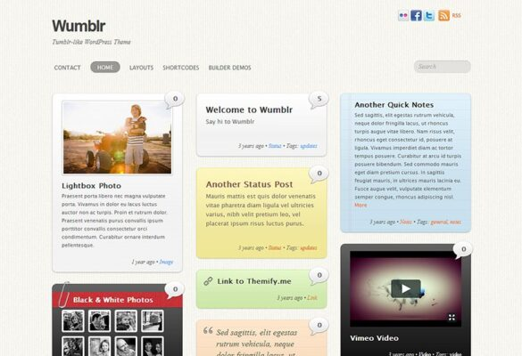 Themify Wumblr WordPress Theme v5.3.6 Nulled